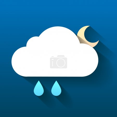 Illustration for Weather symbol. Trendy flat icon design element. - Royalty Free Image