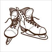 Ice skates isolated on white