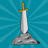 Cartoon weapon of Dark ages Eps 10 vector illustration