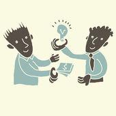 Podnikatelský koncept: nakupovat a prodávat myšlenky