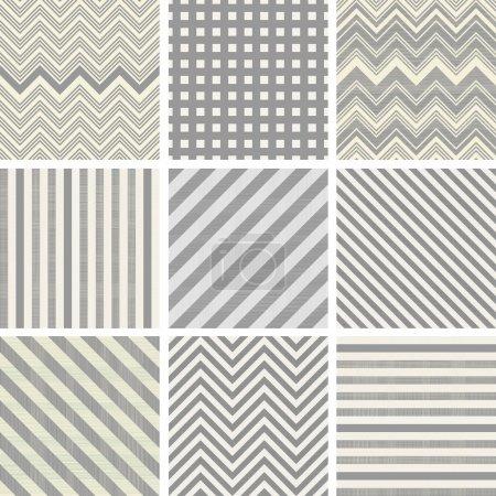 Set of 9 seamless polka dot patterns