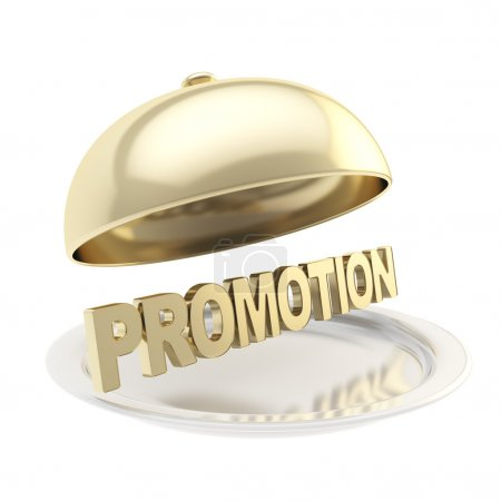 Word Promotion on salver plate under the food cover