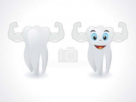 Illustration for Abstract smiley teeth vector illustration - Royalty Free Image