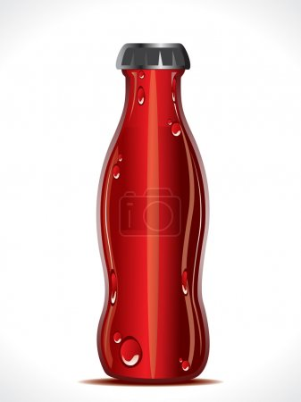 abstract cold drink bottle