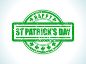 abstract st patrick stamp