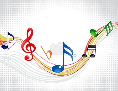 Illustration pour Illustration vectorielle abstraite vague musicale colorée - image libre de droit