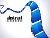 Abstraktní lesklý film modré roll