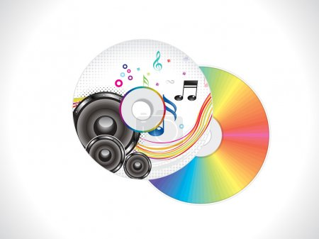 abstract colorful musical cd cover template