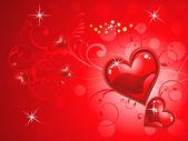 Abstraktní lesklé červené srdce tapeta
