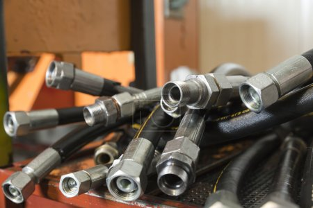 Photo for Hydraulic hoses - Royalty Free Image