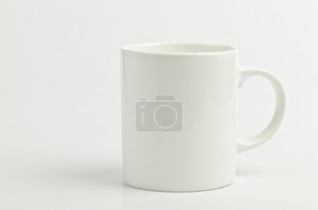 Photo for White coffee mug on white background - Royalty Free Image