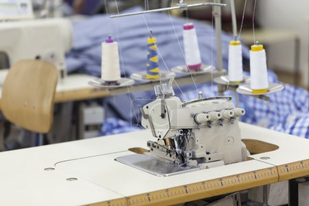 Photo for Industry sewing machine with multiple threads - Royalty Free Image