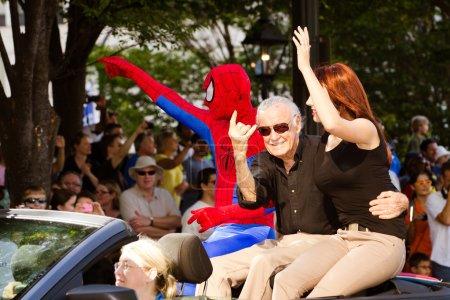 SpiderMan creator Stan Lee waves