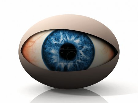 Concept of an eye on a white background