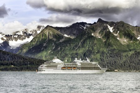 Cruise ship leaving Seward