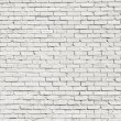 White brick wall for background or texture...