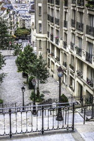 Street view in Paris, France