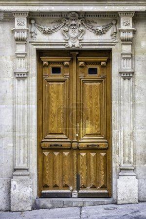 Old wood entry door