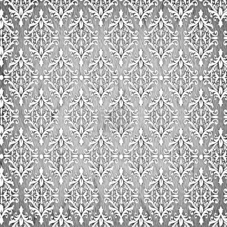 Photo pour Décoration florale motif de fond vintage - image libre de droit