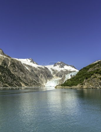 Glacier bay with clear blue sky