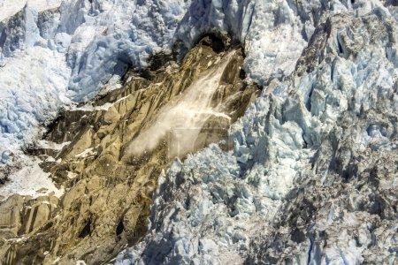 Avalanche in glacier bay