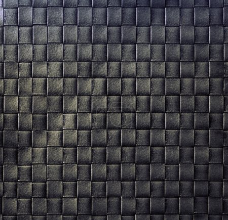 Dark woven leather background