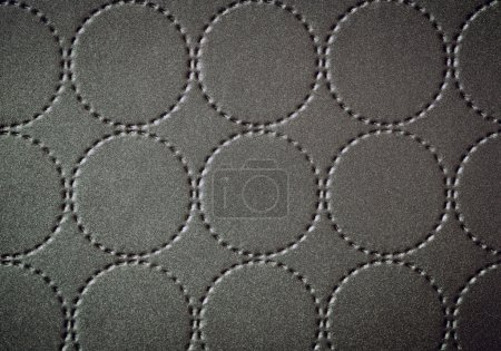 Background of textile texture with circle pattern decoration