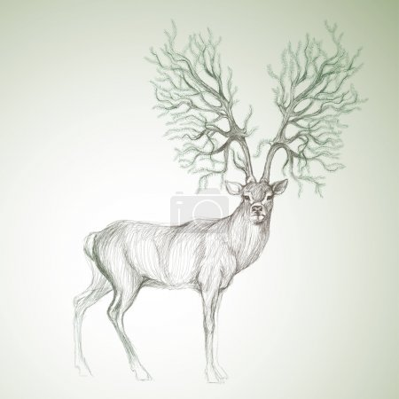 Illustration for Surreal vector sketch - Royalty Free Image