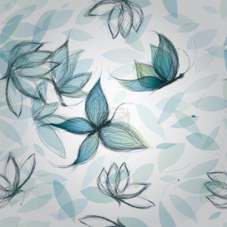 Azure Flowers like Butterflies