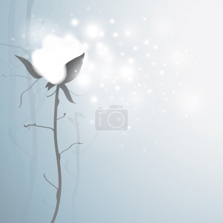 Illustration for Romantic card with snowy flower - Royalty Free Image