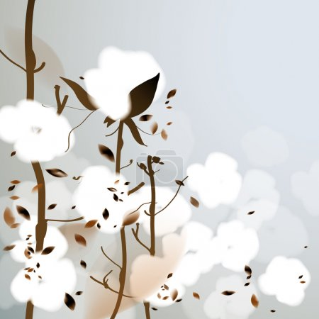 Illustration for Background with fluffy flowers - Royalty Free Image