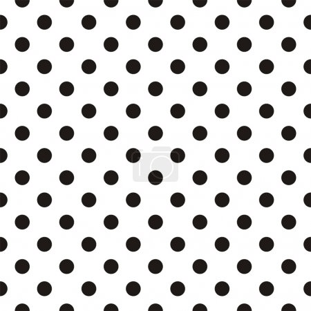 Illustration for Small black polka dots on white background - retro seamless vector dalmatian pattern for backgrounds, blogs, www, scrapbooks, party or baby shower invitations and elegant wedding cards. - Royalty Free Image