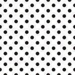 Small black polka dots on white background - retro...