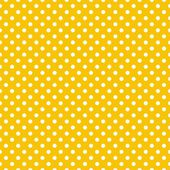 Seamless vector pattern with small white polka dots on a sunny yellow background