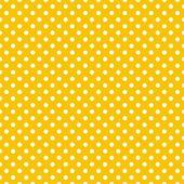 Bezešvá vektorová vzorek s malými bílými puntíky na slunečné pozadí žluté
