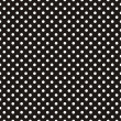 Seamless vector dark pattern with white polka dots...