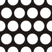 Seamless vector dark pattern with big white polka dots on black background For web design blog desktop wallpaper texture