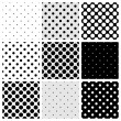 Seamless black, white and grey vector pattern or b...