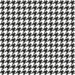 Houndstooth vector seamless black and white patter...