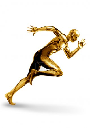 Photo for A Golden man off to a fast start - Royalty Free Image