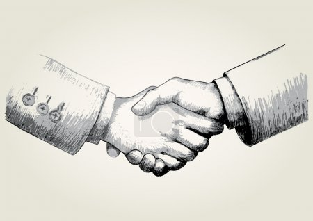 Illustration for Sketch illustration of shaking hands - Royalty Free Image