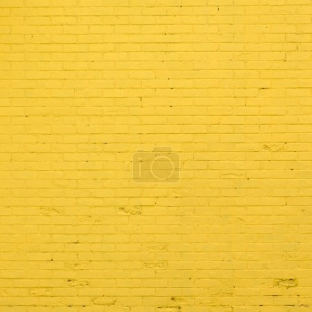 Photo for Yellow brick wall texture - Royalty Free Image