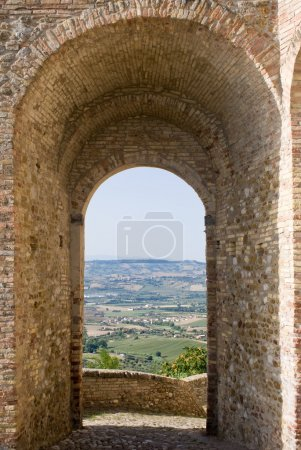 Landscape through an arch