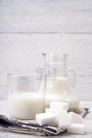 Ug and glass with milk and sugars