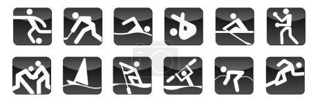 Black sports icons