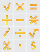 Gold sign of math calculation