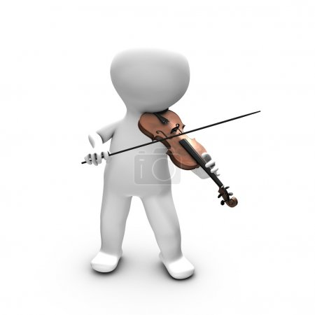Photo for This illustration shows a man having a real pleasure in playing violin. He is probably training or playing in front of a large public. - Royalty Free Image