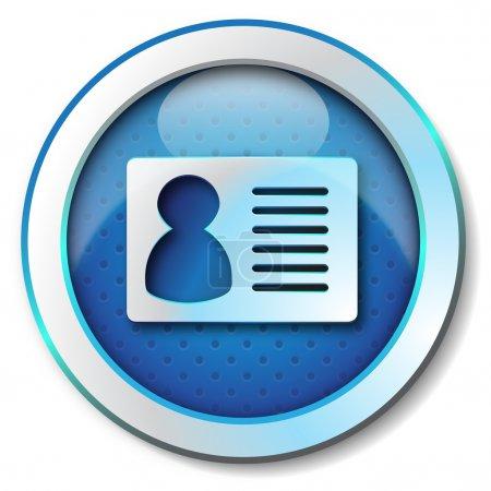 Photo pour Illustration icône métallique pour toile isolée, couleur bleu - image libre de droit