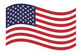 "Постер, картина, фотообои ""US flag"""