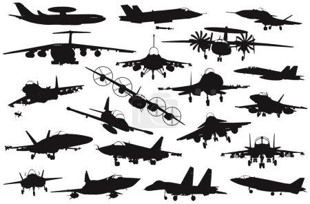 Military aircrafts set